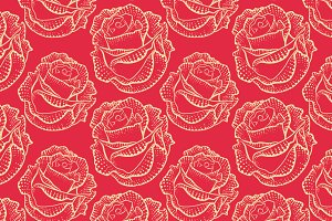 flower, rose, pattern
