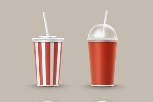 Set of Cups For Soft Drinks
