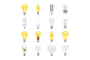 Light bulb vector lightbulb idea icon solution electric lighting lamp energy cfl or led electricity and fluorescent light illustration isolated on white background