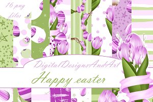 Happy easter in purple