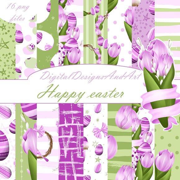 Happy Easter In Purple
