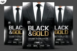 BLACK & WHITE SUITE Flyer Template