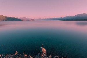 Aerial Lake Tekapo