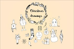 Christmas drawings pack