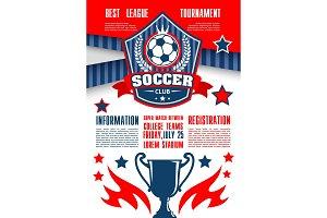 Soccer or football sport club banner template