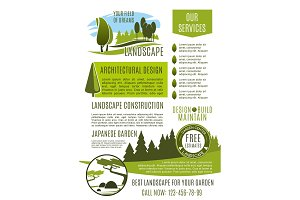 Landscape design company business banner template
