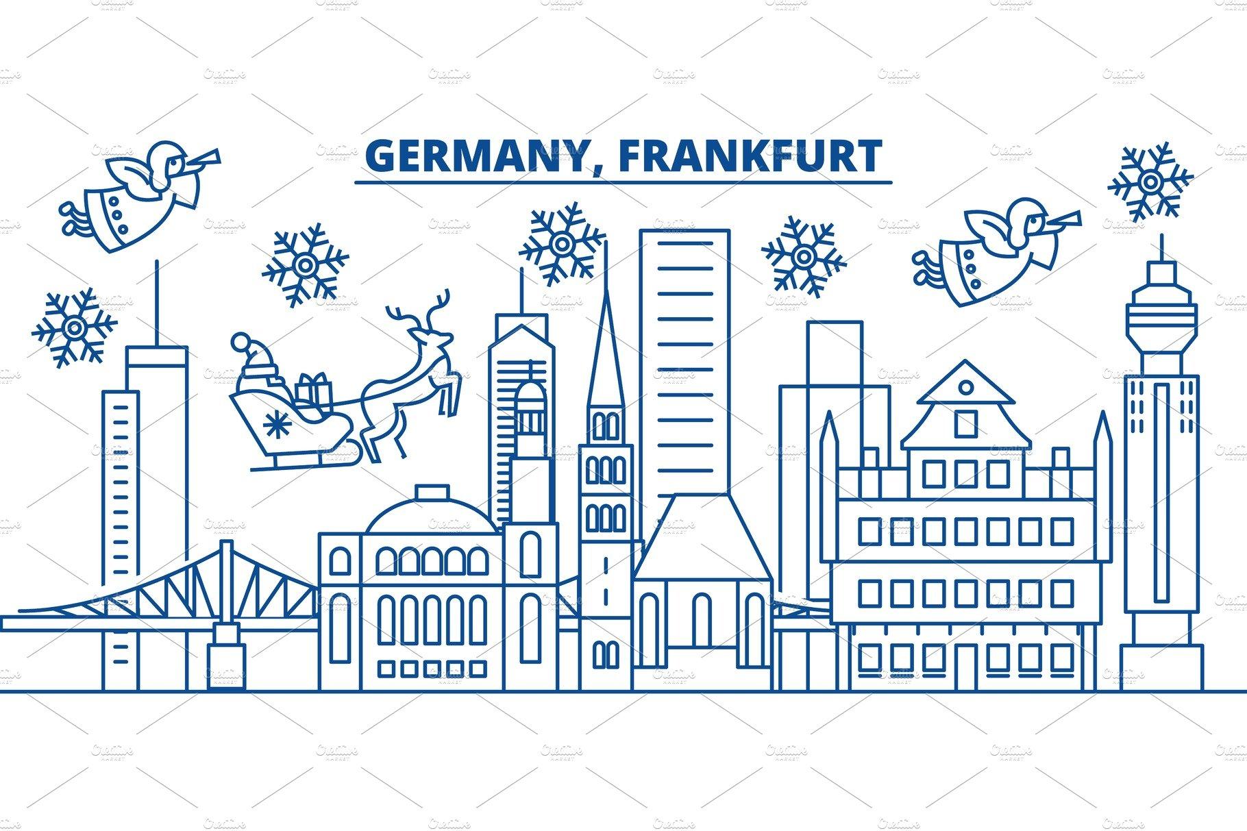 Germany Berlin Winter City Skyline Merry Christmas Happy New Year