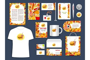 Fast food restaurant corporate identity template