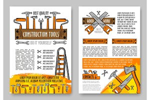 Home repair tool and equipment sketch poster