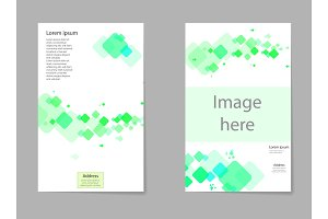 Abstract composition, business card set, box block text frame, geometric shape font texture, a4 brochure title sheet, creative square figure icon, quadrate logo sign, flyer fiber, EPS10 banner form