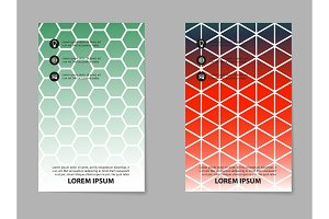 Brochure design, geometric abstract business brochure template, creative trend brochure