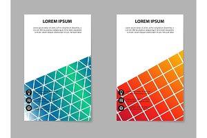 Brochure design, geometric abstract business brochure template, creative trend brochure