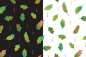 Leaves colorful seamless pattern