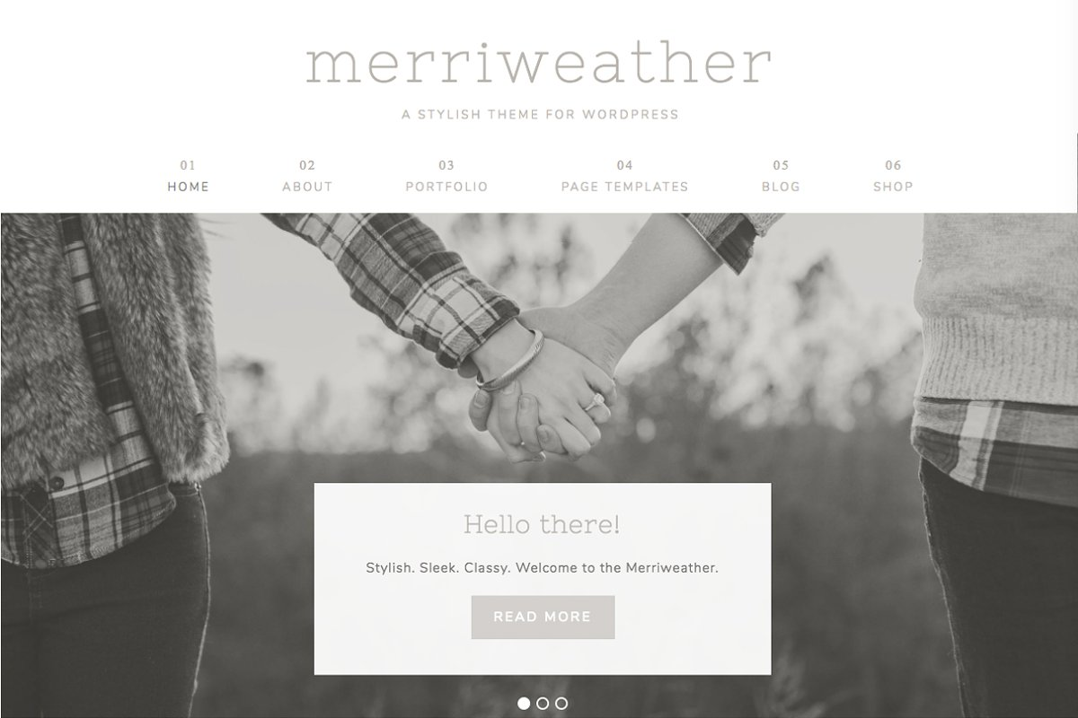 Merriweather Wordpress Theme ~ WordPress Photography Themes