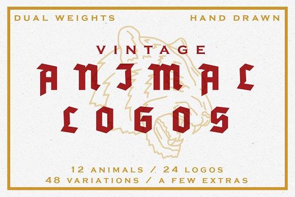 25% Off 24 Vintage Animal Logos