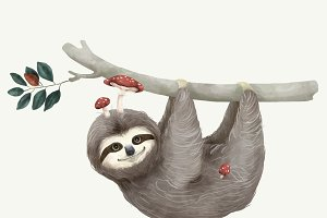 Illustration of a sloth