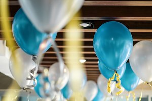 Balloon decoration in the party