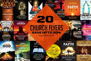 20 Church Flyer Bundle Vol:03