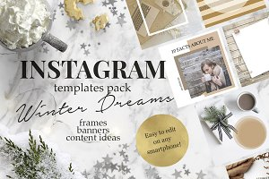 Winter Hygge Instagram templates