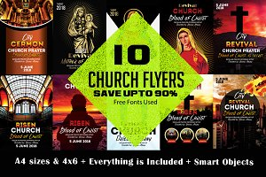 10 Church Flyer Bundle VOl:02