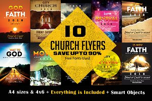 10 Church Flyer Bundle Vol: 01