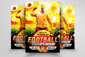 Soccer Championship Flyer Template