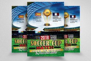 Soccer Cup Match Flyers