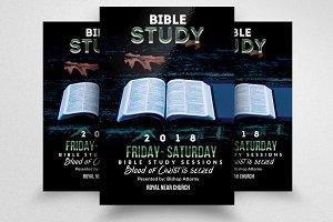 Bible Study Church Flyers