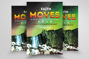 Faith Moves Mountain Church Flyers