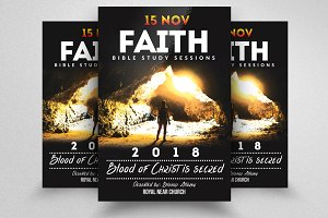 Strong Faith Church Flyer Templates