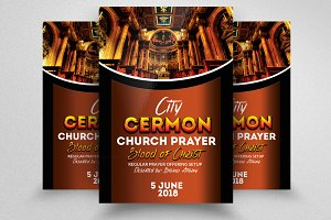 Church Cermon Flyer Templates