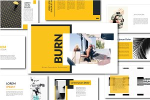 Burn Minimal Powerpoint Template
