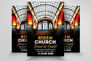 Risen Church Flyer Templates