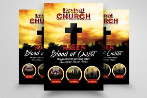 Revival Church Flyer Template