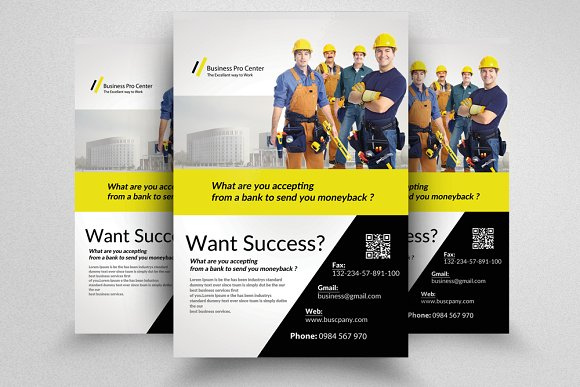 professional business flyer template flyer templates creative market