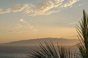 Views of La Gomera during a sunset.