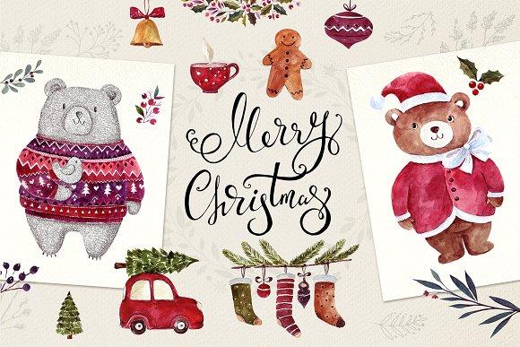 CHRISTMAS DECORATIVE SET-Graphicriver中文最全的素材分享平台