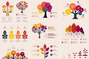 Tree Infographics Elements Bundle