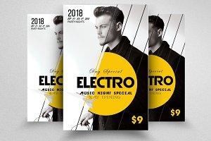 Electro & Futuristic Flyer Template