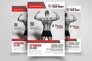 Fitness Gym Flyer Templates