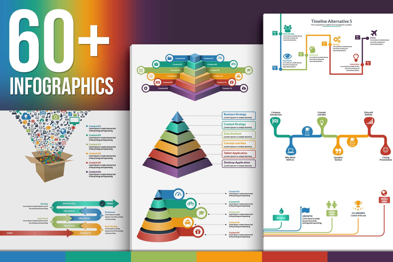vector infographics big bundle graphic objects creative market