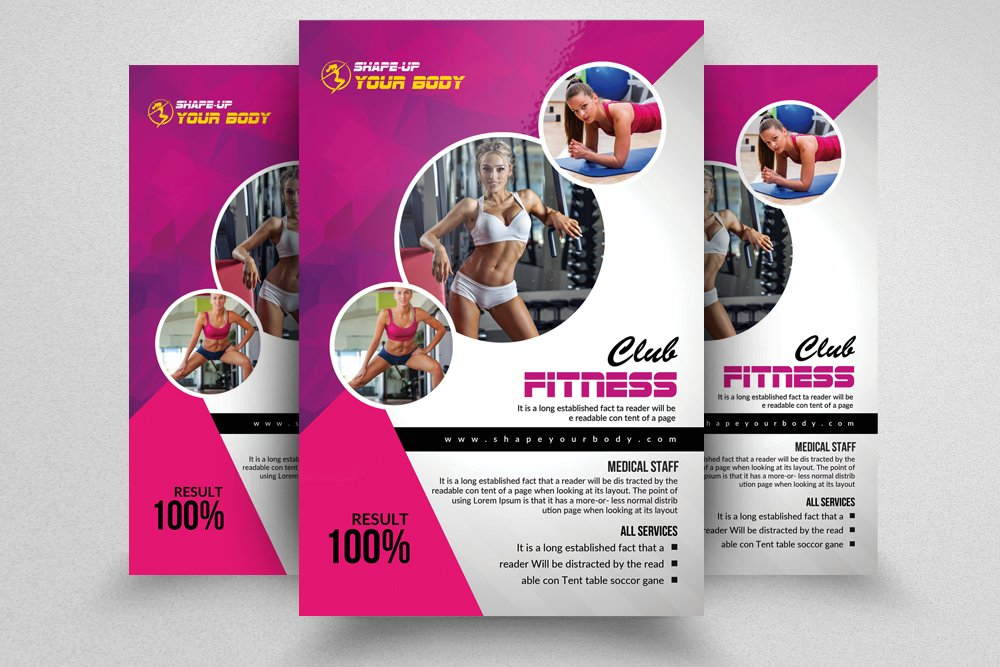 fitness club psd flyer templates flyer templates creative market