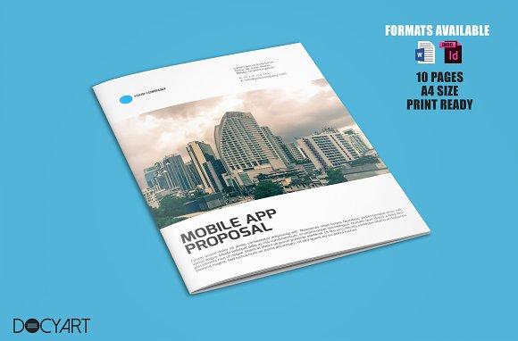 a4 mobile app proposal template templates creative market