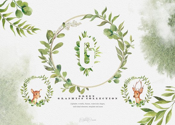 WOODLAND collection - fores-Graphicriver中文最全的素材分享平台