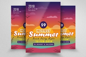 Simple Summer Beach Party Flyer