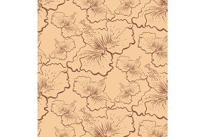 flower pattern, hibiscus