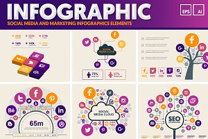 Social Media Infographic Elements