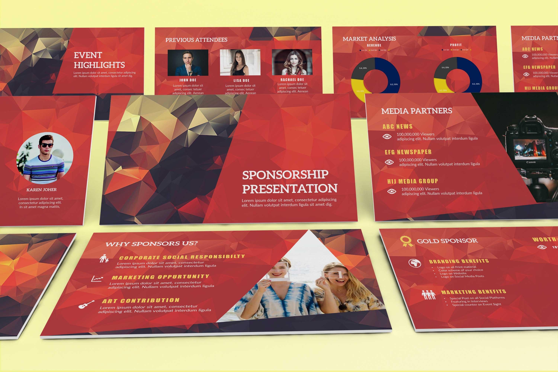 Event Sponsorship Template Presentation Templates Creative Market - Sponsorship brochure template