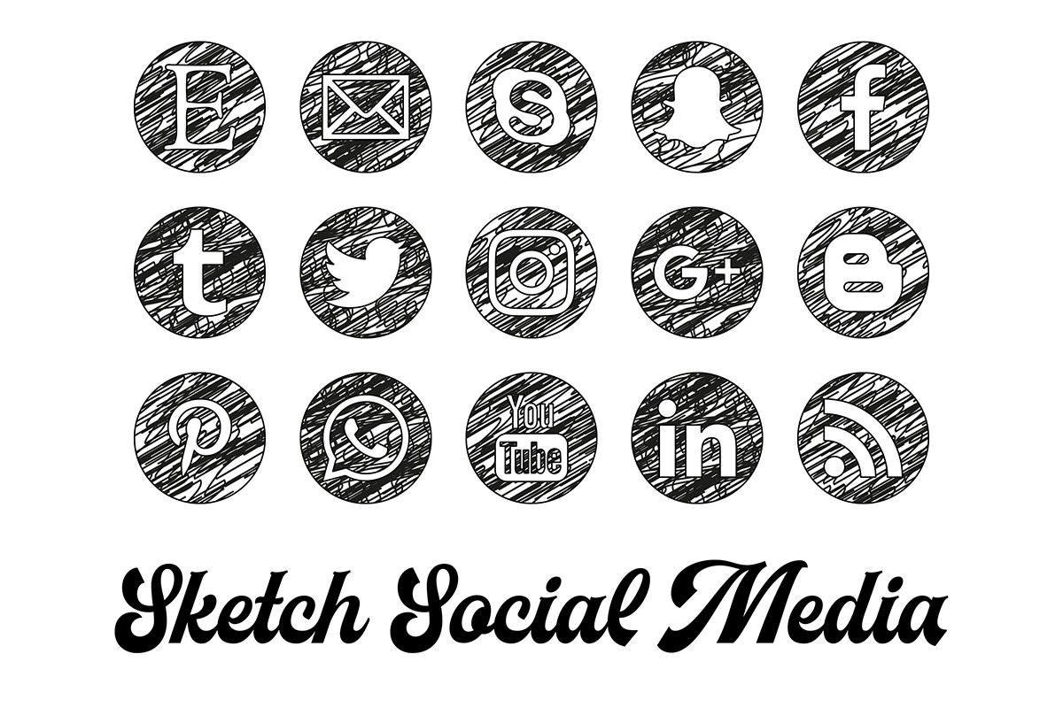 Sketch Social Media Icons ~ Social Media Templates