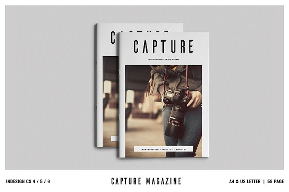 Capture Magazine / Portfoli-Graphicriver中文最全的素材分享平台